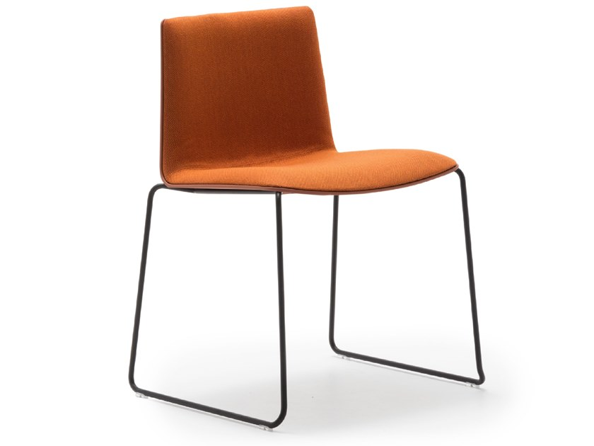 Sled base stackable chair FLEX CHAIR SI1300 by Andreu World