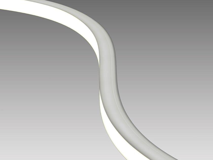 Resin linear lighting profile FLEXI TOP by Aldabra