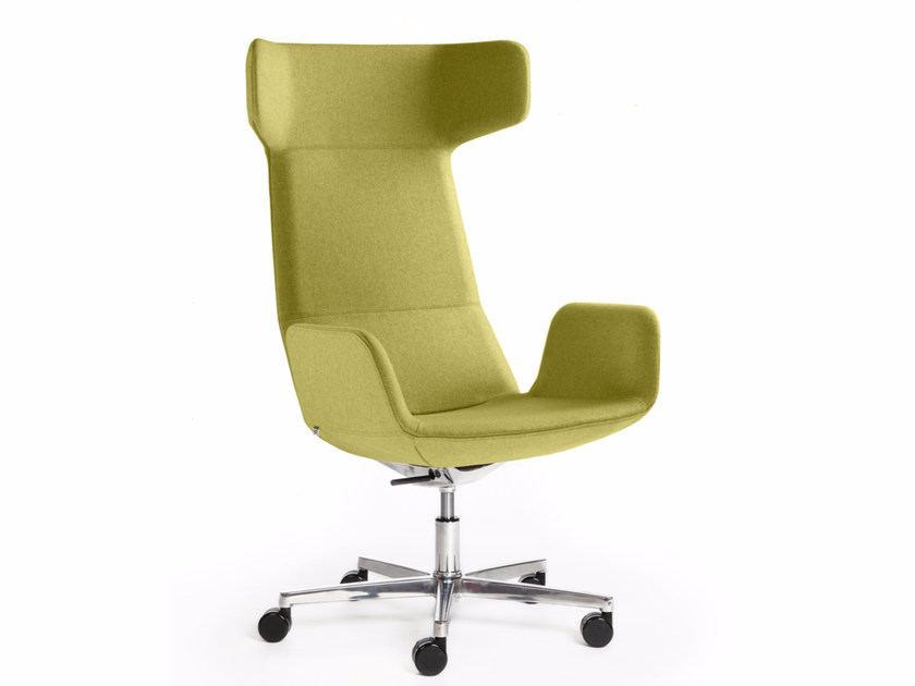 Executive chair with armrests with casters FLEXI XL-BR-F37 by LD Seating