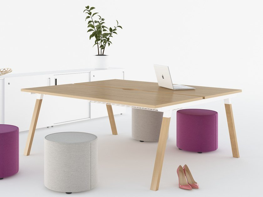 Rectangular meeting table with cable management FLEXIDO | Meeting table by Mikomax Smart Office