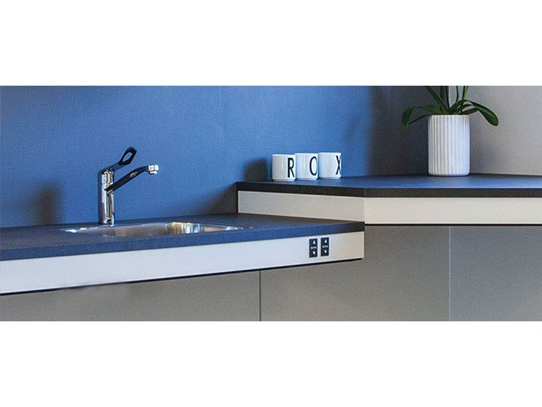 Wall kitchen worktop FLEXIELECTRIC by Ropox
