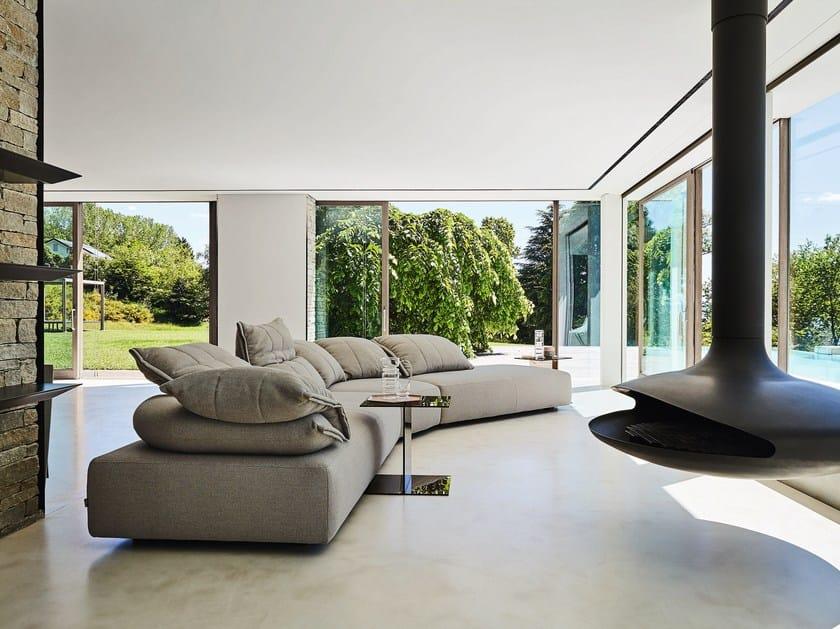 Sectional modular fabric sofa FLICK-FLACK | Sectional sofa by Ditre Italia