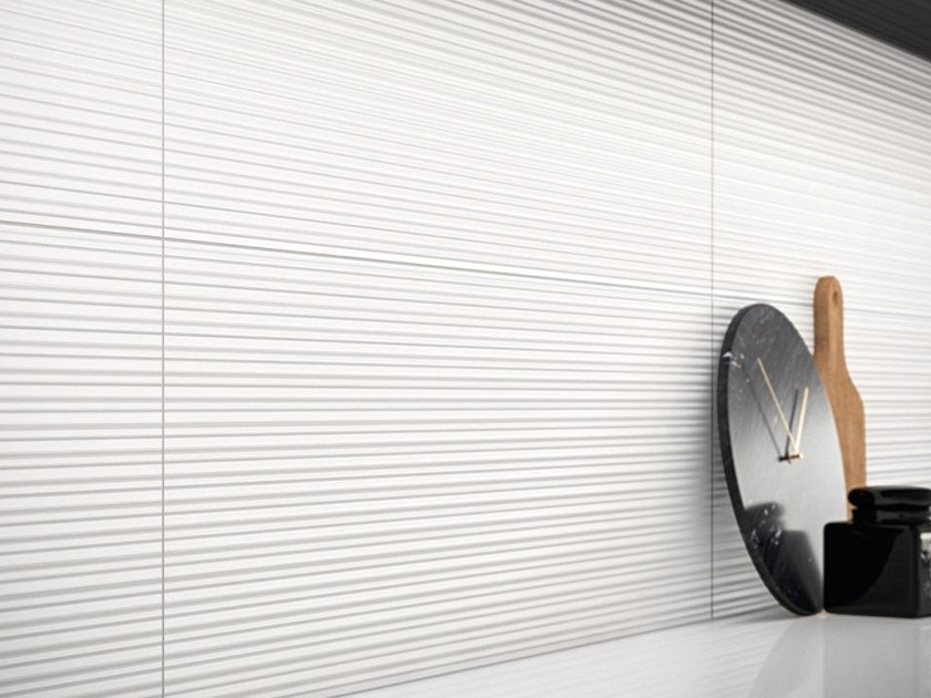 Glass ceramic 3D Wall Cladding FLICK by Revigrés
