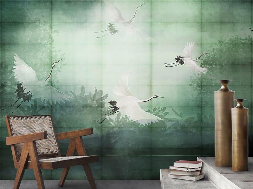 Carta da parati tropicale in fibra di vetro FLIGHT by N.O.W. Edizioni