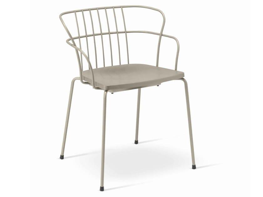 Garden chair with armrests FLINT 535-A | Polypropylene chair by Metalmobil