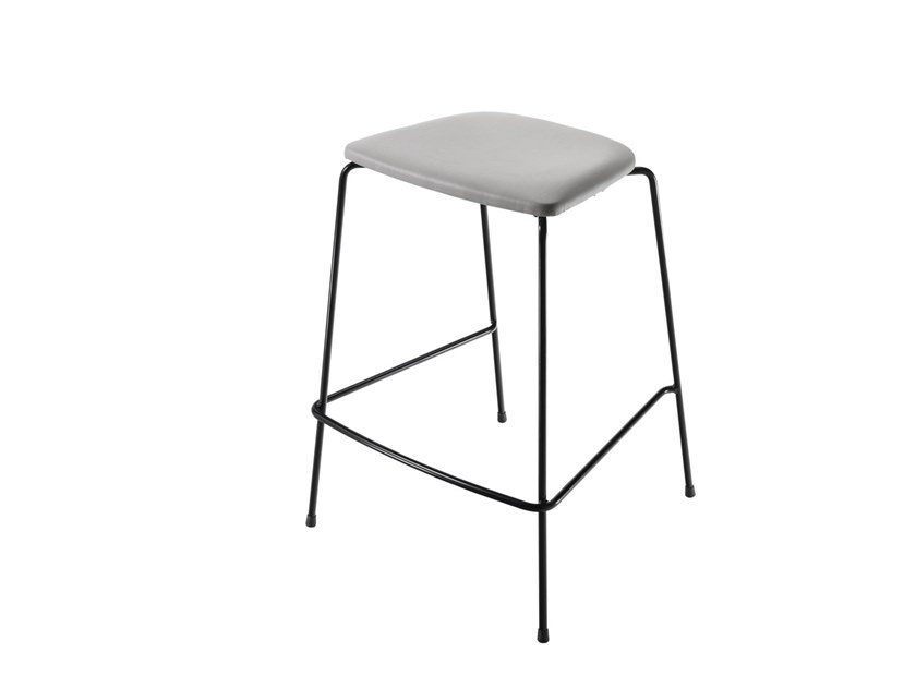 Fabric stool with footrest FLINT 549M by Metalmobil