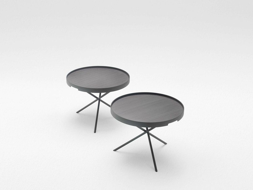 Round coffee table with tray FLIP by paola lenti