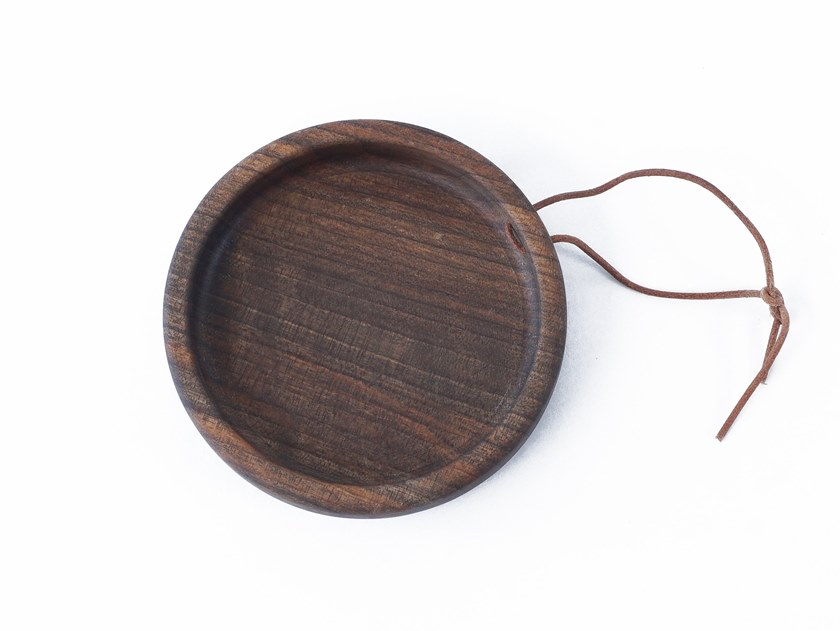 Walnut tray / chopping board FLIP ROUND | Round tray by UBIKUBI