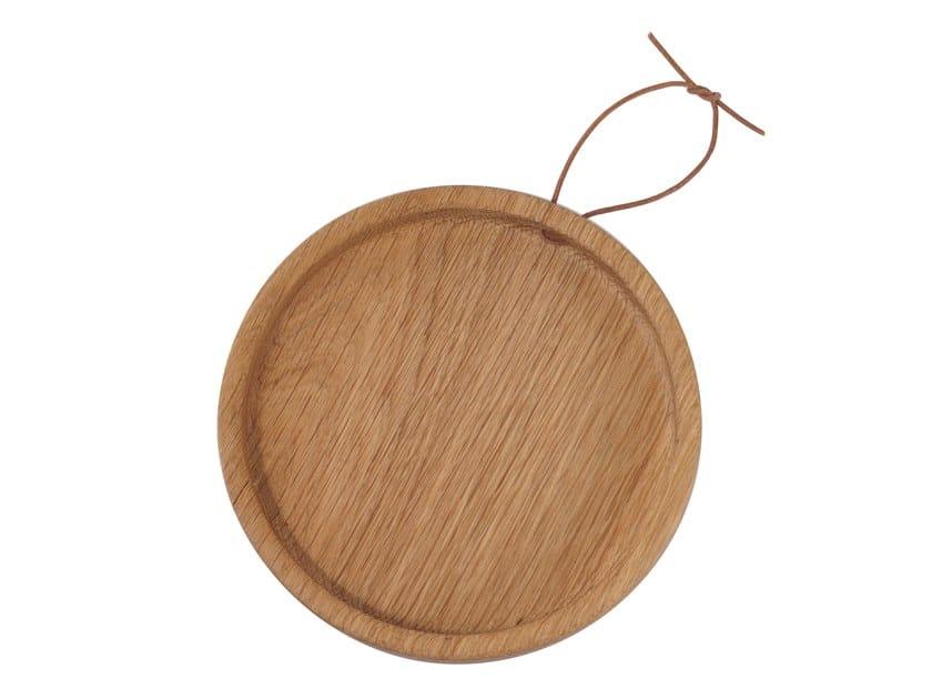 Oak tray / chopping board FLIP ROUND   Wooden tray by UBIKUBI