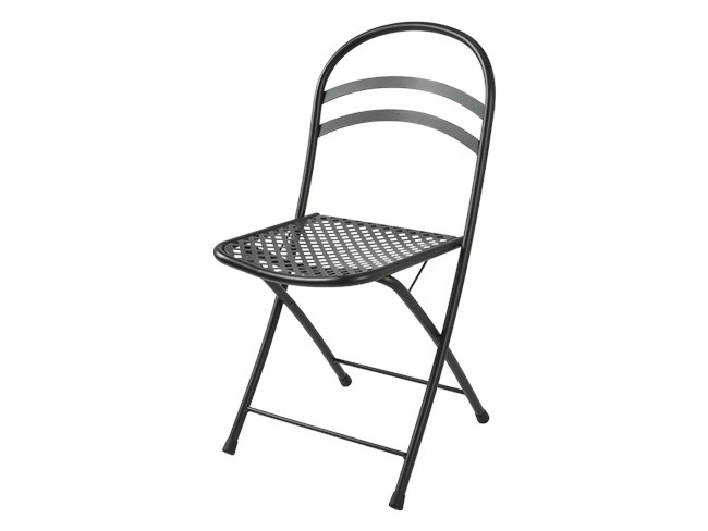 Folding galvanized steel chair FLIPPER by RD Italia