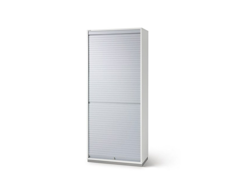 Tall office storage unit with tambour doors FLOAT_FX   Office storage unit with tambour doors by Wiesner-Hager