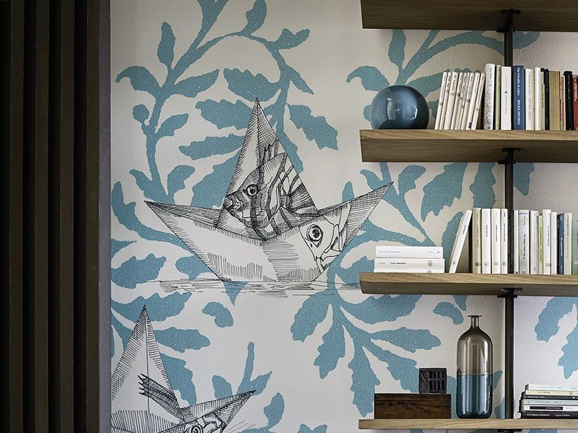 Motif wallpaper FLOAT ON by Wall&decò