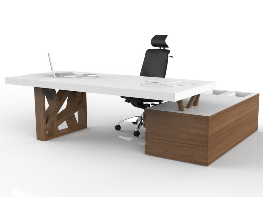 Executive desk with shelves FLOAT | Executive desk by Tuna Ofis