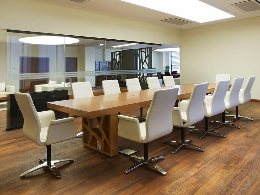 Rectangular wood veneer meeting table FLOAT | Meeting table by Tuna Ofis