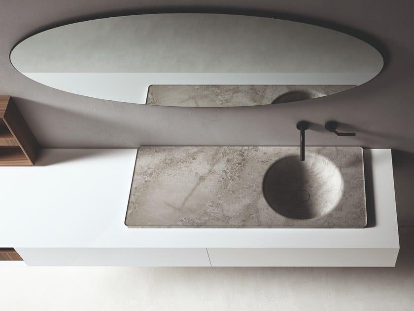 Inset round single marble washbasin FLOE | Single washbasin by Boffi