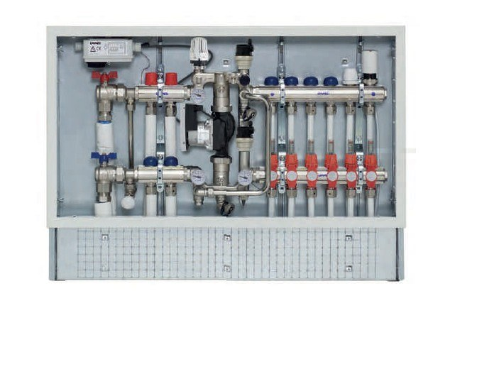 Mixing unit and manifold FLOOR CONTROLBOX by EMMETI
