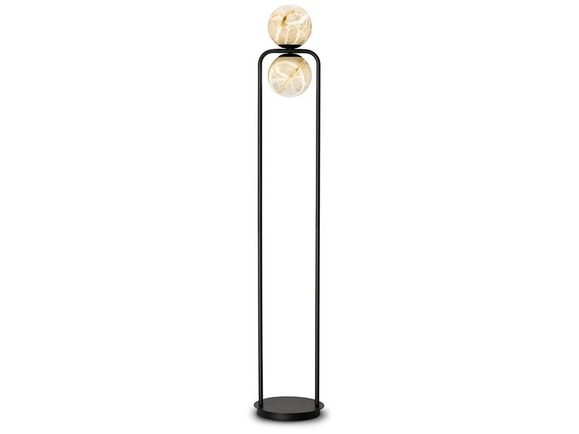 LED alabaster floor lamp TRIBECA | LED floor lamp by ALMA LIGHT
