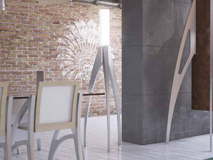 Aluminium floor lamp I DIFETTI PREZIOSI | Floor lamp by Boffetto