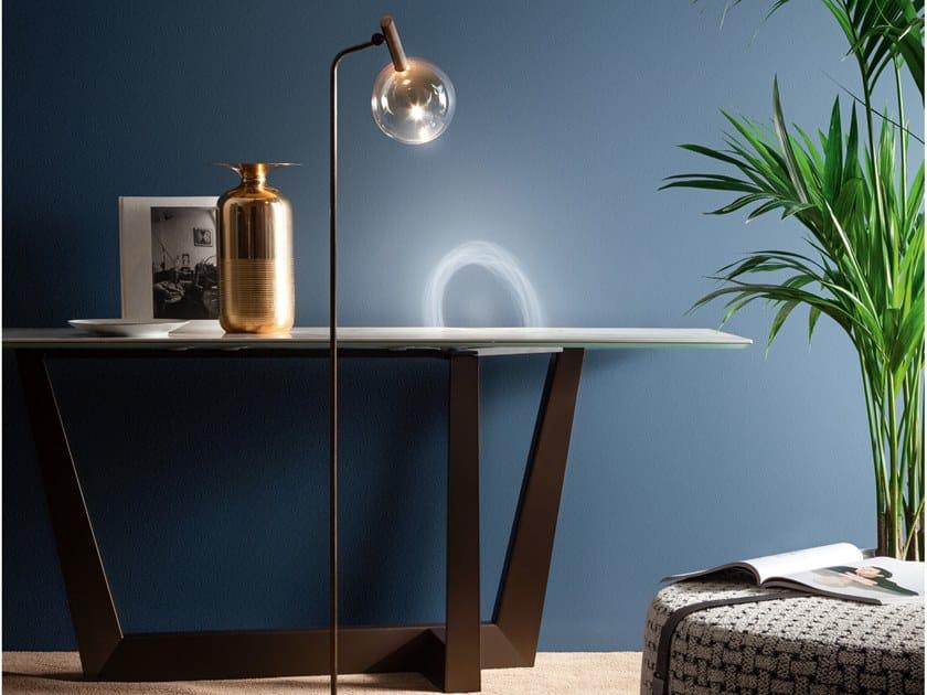 Lampada da terra in vetro borosilicato SOFÌ | Lampada da terra by Bonaldo