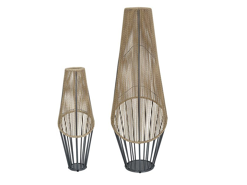 Lampada da terra per esterno in fibra sintetica LODZ | Lampada da terra per esterno by cbdesign