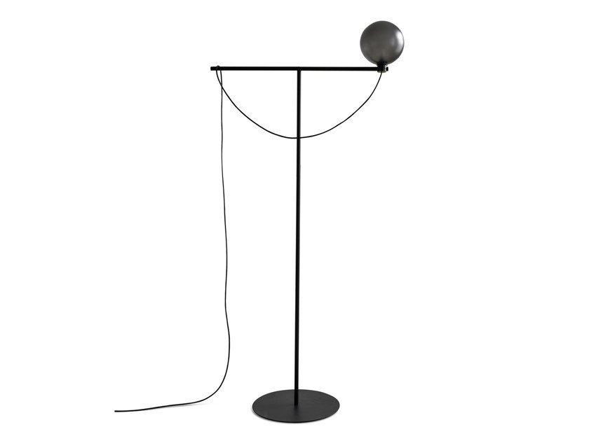 Glass and steel floor lamp GLOBE | Floor lamp by Handvärk