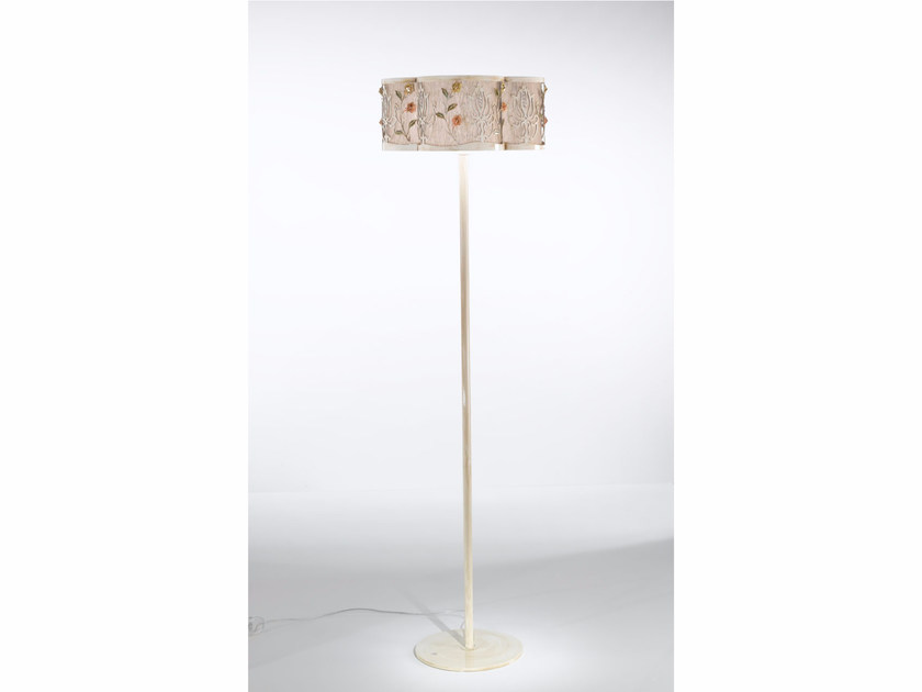 Fabric floor lamp with Swarovski® crystals MARGOT | Floor lamp by IDL EXPORT