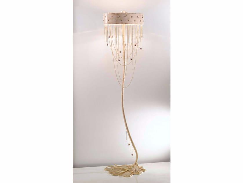 Lampada da terra in metallo con cristalli swarovski® heritage