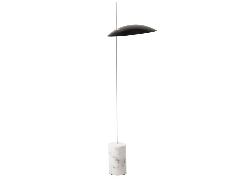 LED height-adjustable aluminium floor lamp CLAM | Floor lamp by bs.living