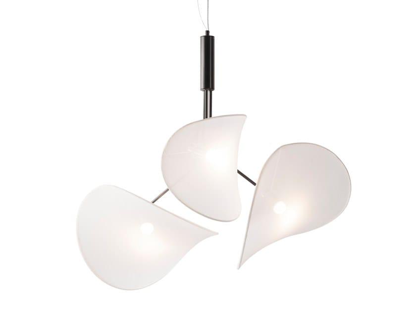 LED swivel synthetic fibre pendant lamp MANTA   Pendant lamp by Inventive