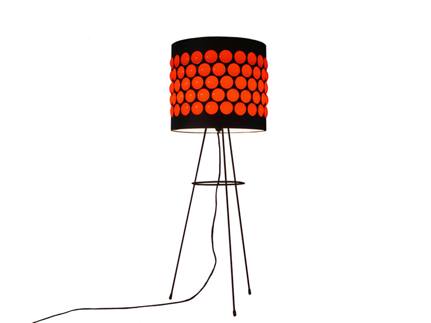 Floor lamp RED ON BLACK by Kappennow