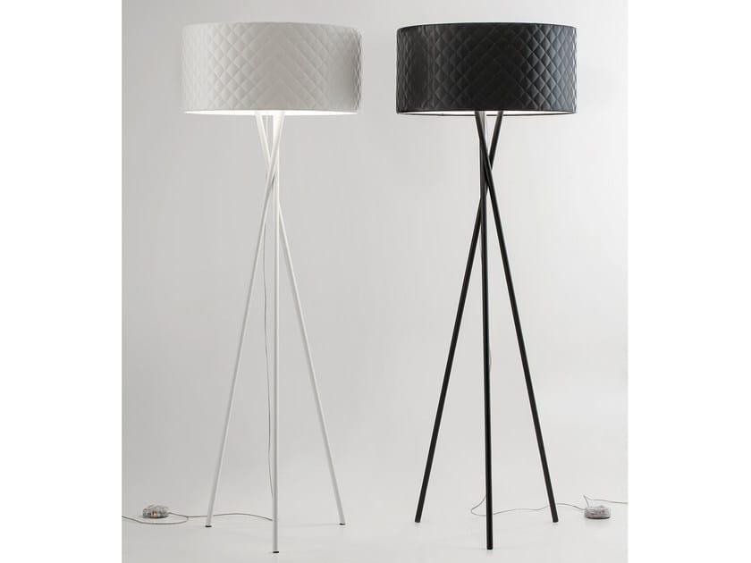 lucente lighting. Imitation Leather Floor Lamp MARIÙ | By Lucente Lighting