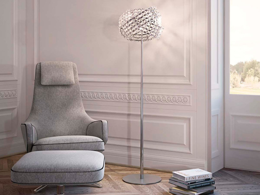 Crystal floor lamp DIAMANTE | Floor lamp by Marchetti