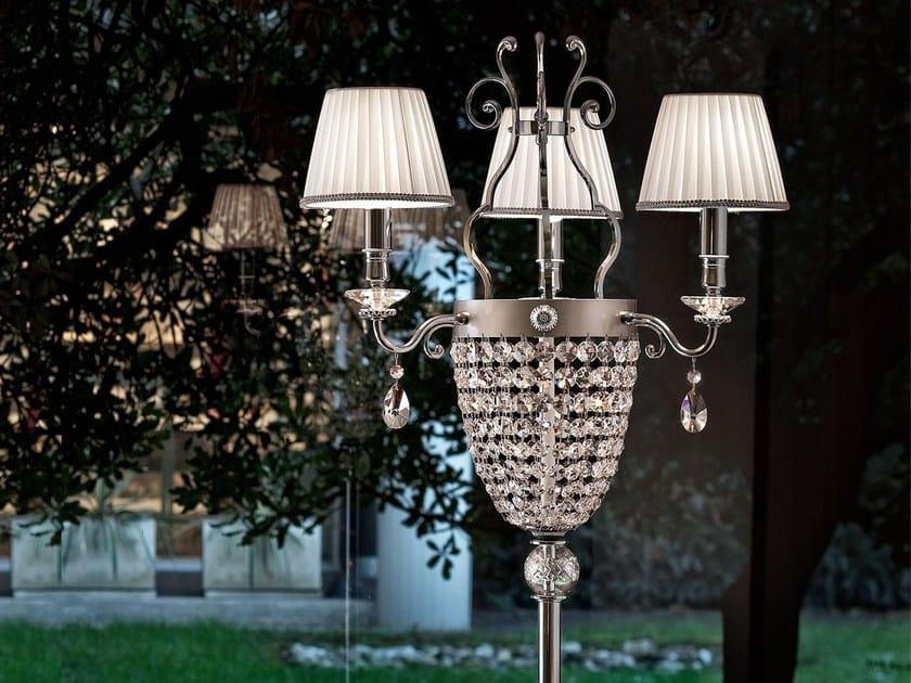Direct light crystal floor lamp ELEGANTIA | Floor lamp by Masiero