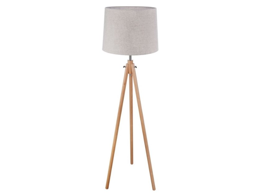 Height-adjustable wooden floor lamp CALVIN | Floor lamp by MAYTONI