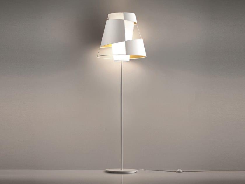 Direct-indirect light cotton floor lamp CRINOLINA   Floor lamp by Pallucco