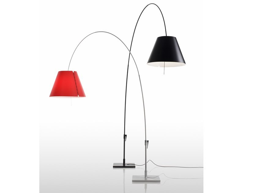 LED adjustable polycarbonate floor lamp LADY COSTANZA | Floor lamp by LUCEPLAN