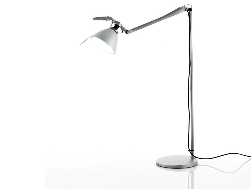 LED adjustable iron floor lamp FORTEBRACCIO | Floor lamp by LUCEPLAN