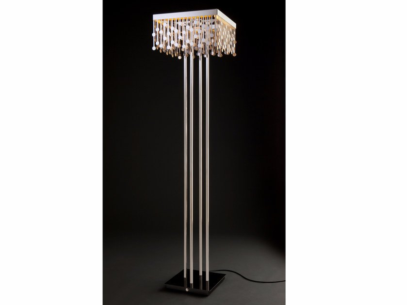 Stainless steel floor lamp MELODY | Floor lamp by Quasar