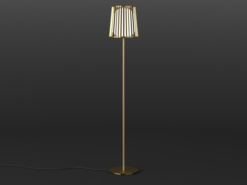 LED direct light brass floor lamp JULIA | Floor lamp by Quasar