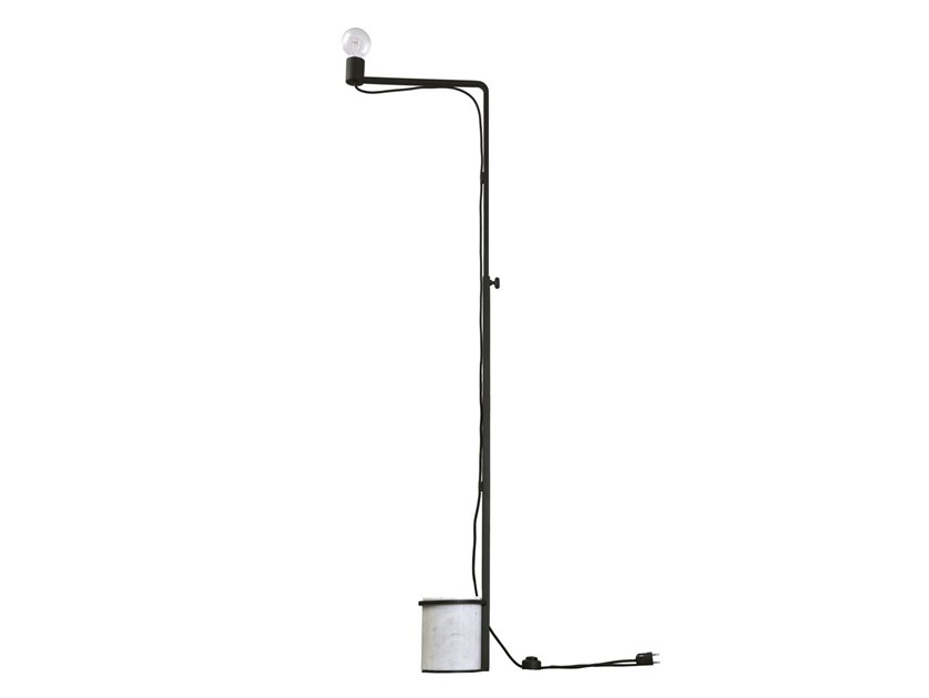 Height-adjustable metal floor lamp with dimmer LEST | Floor lamp by RADAR INTERIOR
