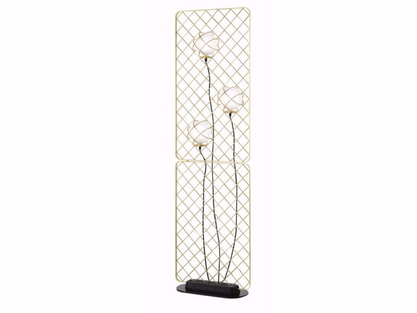 Halogen glass and steel floor lamp LIGHT CATCHER | Floor lamp by ROCHE BOBOIS
