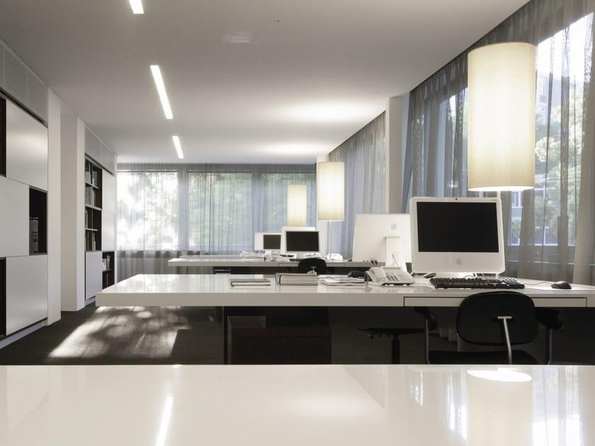 Fluorescent aluminium floor lamp with dimmer LA BELLA | Floor lamp by Sattler