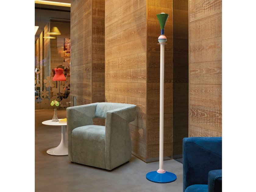 Indirect light aluminium floor lamp CARMEN | Floor lamp by SLIDE