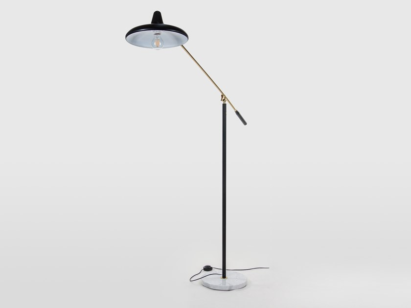 Adjustable aluminium floor lamp UFO - S3030 by Stilnovo