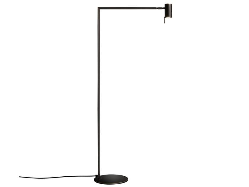Lampada da terra a LED in ottone con dimmer RECTUS | Lampada da terra by VeniceM