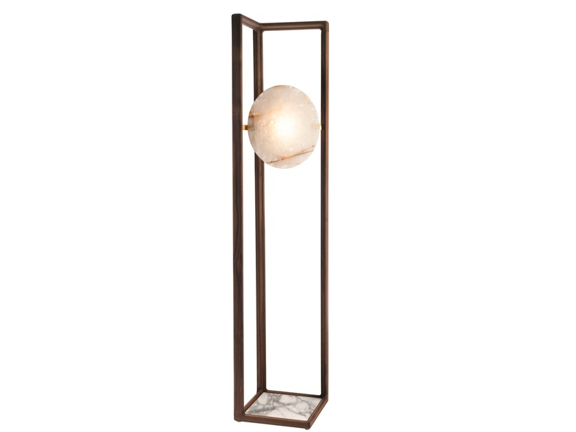Wooden floor lamp MOON EYE | Floor lamp by Visionnaire