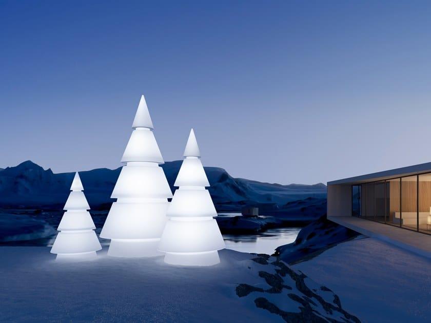 Lampada da terra per esterno a LED in polietilene FOREST | Lampada da terra per esterno by VONDOM