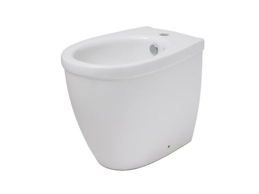 Floor mounted Vitreous China bidet EVERY 44 | Floor mounted bidet by EVER Life Design