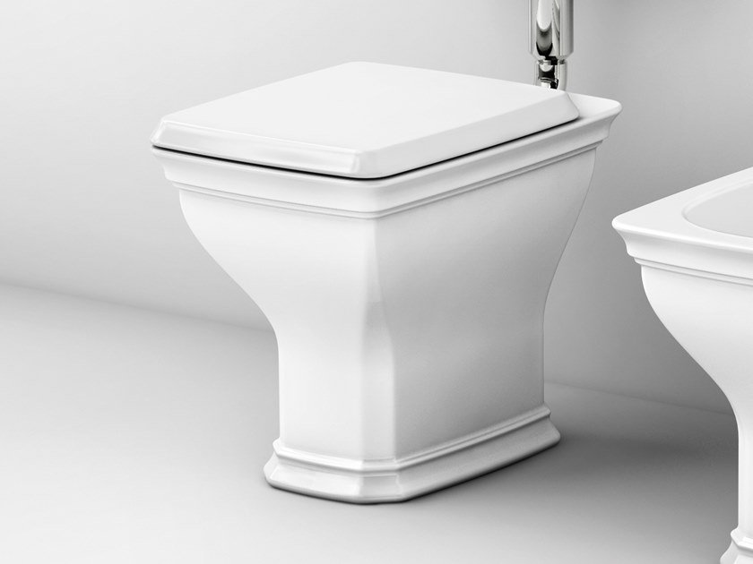 Floor mounted ceramic toilet CIVITAS | Floor mounted toilet by Artceram