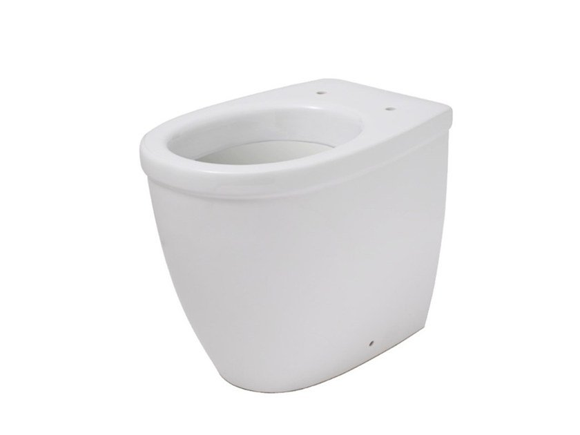 Floor mounted Vitreous China toilet EVERY 44 | Floor mounted toilet by EVER Life Design